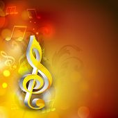 picture of clefs  - Shiny 3d g - JPG
