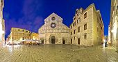 Zadar Cathedral Square Night View