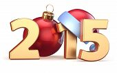 2015 New Years Eve Bauble Christmas Ball Decoration