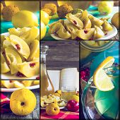 Collage Tincture Quince Fruit Apple Alcohol Intake