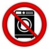 image of no clothes  - No washing machine icon on white background - JPG