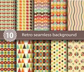 10 retro seamless background.