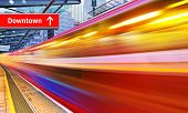 picture of high-speed train  - background of the high - JPG