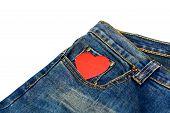 Blue Jean With Heart Shape