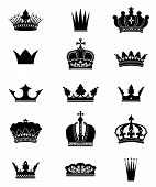 Set of 15 crowns