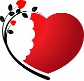 vector drawing heart shape icon