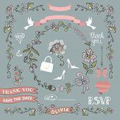 Bridal Shower Template Setwedding.floral Decor Elements