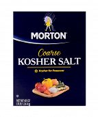 Los Angeles,California. Dec 14th 2014: Nice isolated product shot of Morton Kosher salt