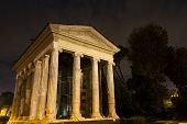 Temple Of Portunus At Night