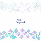 Ice Crystal Vector Greeting Card Background