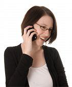 Happy Woman On Phone