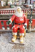 sitting santa claus decorative