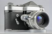 foto of mm  - Soviet 35 mm Film SLR Photo Camera with automated diaphragm option  - JPG
