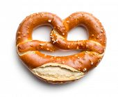 foto of pretzels  - baked pretzel on white background - JPG