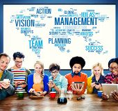 stock photo of role model  - Management Vision Action Planning Success Team Business Concept - JPG