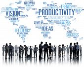 picture of productivity  - Productivity Mission Strategy Business World Vision Concept - JPG