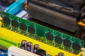 picture of ram  - close up on Installation of RAM on Computer  - JPG