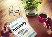 image of honesty  - Digital Dictionary Honesty Values Integrity Concept - JPG