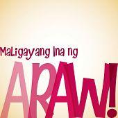pic of filipino  - Bright typographic Filipino  - JPG