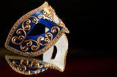 stock photo of venetian carnival  - Traditional Venetian carnival mask - JPG