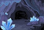 picture of fairies  - Illustration of a fairy cave - JPG