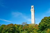stock photo of cape-cod  - View at the Pilgrim Monument in Provincetown - JPG