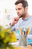 stock photo of concentration man  - Concentrated on work - JPG