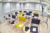 picture of business class  - The training class in modern photography school - JPG