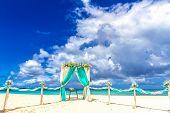 foto of gazebo  - beach wedding venue - JPG