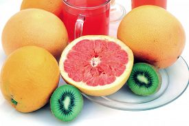 stock photo of pamelo  - fresh fruits - JPG