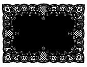 Black Lace Place Mat