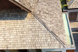 stock photo of shingles  - Shingles on the roof - JPG