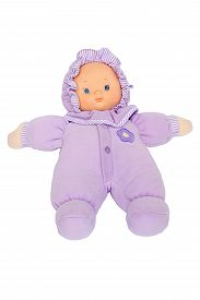 picture of baby doll  - baby doll purple suit for baby on isolated - JPG