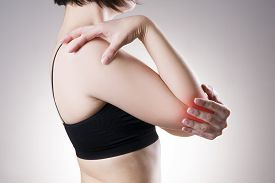 picture of cubit  - Woman with pain in elbow - JPG