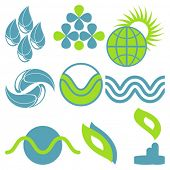 Set of vector elements Environmental