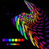 Bright creative background. At a black background. (Version vector 13826131)