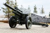 An old soviet cannon in the museum of WWII