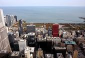 Panorama Of Chicago From High Tower
