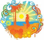 Summer seascape bunner