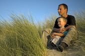 Boy With Father Looking