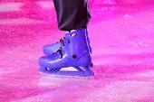 Blue Skates On Purple