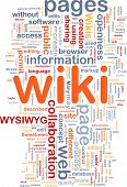 Background concept wordcloud illustration of wiki pages