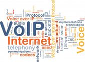 Background concept wordcloud illustration of VoIP