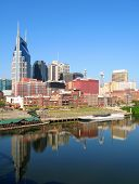 View of Nashville, Tennessee skyline.