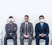 Businessmen Sitting On Chairs poster