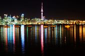 The beautiful Auckland skyline by night