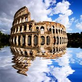 Coliseum in Rome, Italy on a beautiful summer's day