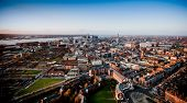 View of Liverpool City with the Merseyside River