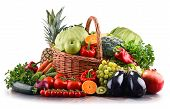 Assorted Raw Organic Vegetables And Fruits poster