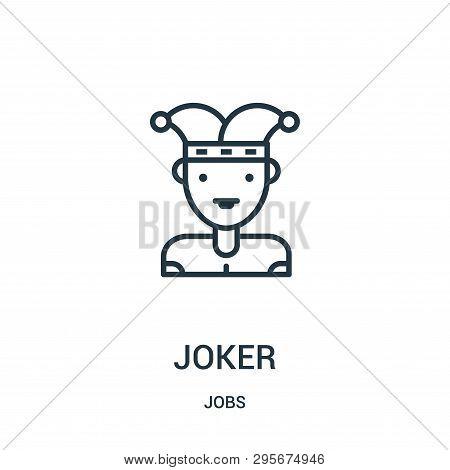 Joker Icon Isolated On White